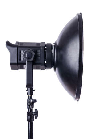 Studio light stand isolated on the white Stock Photo - 19037260