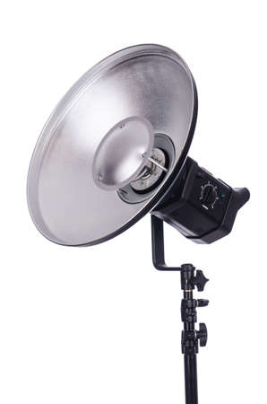 Studio light stand isolated on the white Stock Photo - 19037183