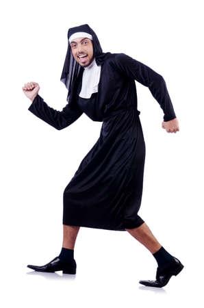 Male nun in funny religious concept Stock Photo - 19492507