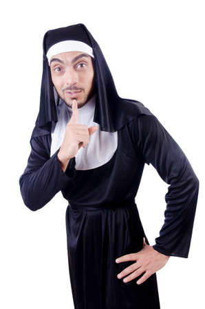 Male nun in funny religious concept Stock Photo - 19292421