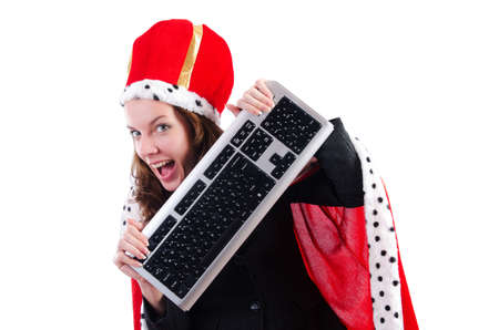 Woman queen in funny concept Stock Photo - 19292426