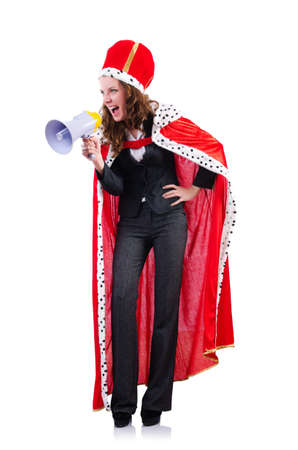 Woman queen in funny concept Stock Photo - 19292422