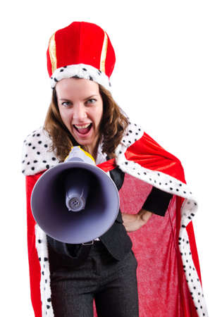 Woman queen in funny concept Stock Photo - 19292398