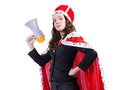 Woman queen in funny concept Stock Photo - 19292420
