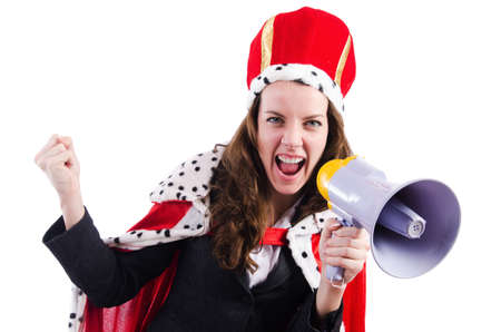 Woman queen in funny concept Stock Photo - 19292423