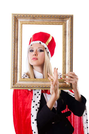 Woman queen in funny concept Stock Photo - 19292482