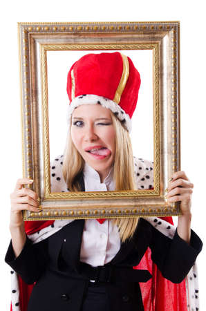 Woman queen in funny concept Stock Photo - 19292552
