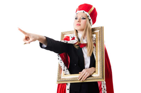 Woman queen in funny concept Stock Photo - 19292341