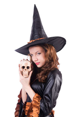 Witch isolated on the white background Stock Photo - 19292430