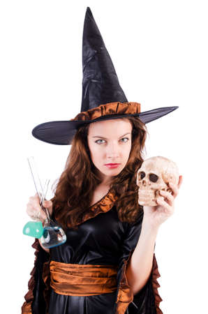 Witch isolated on the white background Stock Photo - 19292451