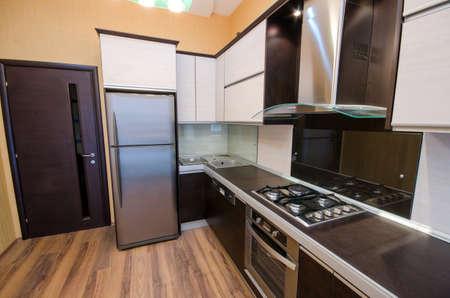 estufa: Interior de la cocina moderna Foto de archivo