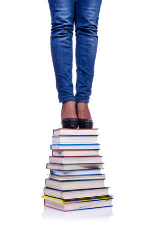 Climbing the steps of knowledge - education concept Stock Photo - 19057296