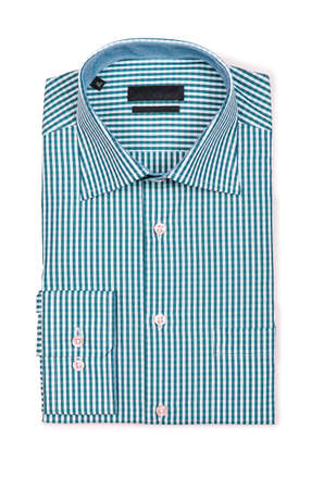 Nice male shirt isolated on the white Stock Photo - 19064714