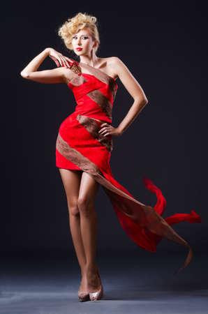Woman in nice dress in studio Stock Photo - 19137017