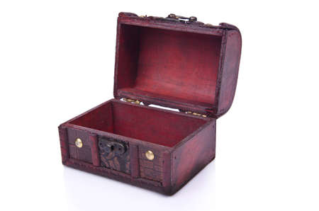 Old chest isolated on the white background Stock Photo - 19057183