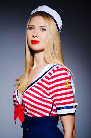 Woman in sailor costume  - marine concept photo