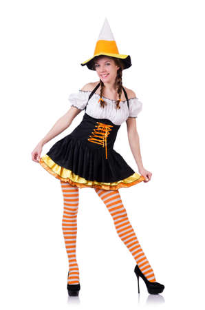 Young woman in traditional german costume Stock Photo - 19131316