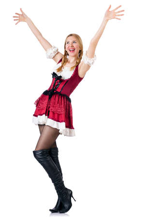 Young woman in traditional german costume Stock Photo - 19142435