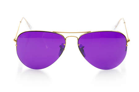 Elegant sunglasses isolated on the white Stock Photo - 19069236