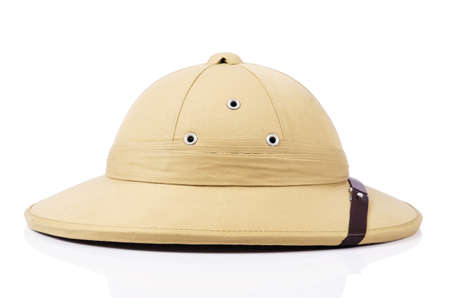 médula: Safari sombrero aislados en el blanco