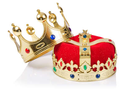 corona reina: Corona del rey aislado en blanco