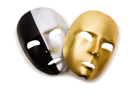 Shiny masks isolated on white background Stock Photo - 19072229