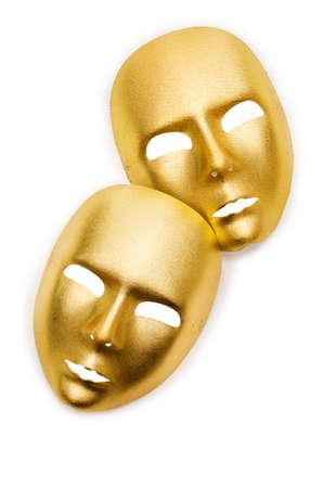 Shiny masks isolated on white background Stock Photo - 19072245