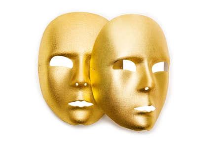 Shiny masks isolated on white background Stock Photo - 19072254