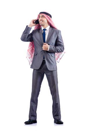 Arab businessman isolated on white Stock Photo - 19142590