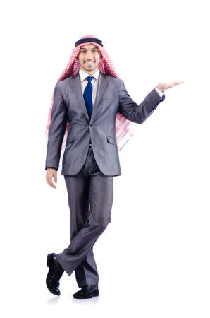 Arab businessman isolated on white Stock Photo - 19142541