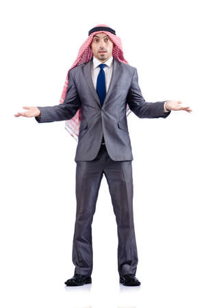 Arab businessman isolated on white Stock Photo - 19142542