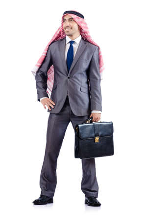 Arab businessman isolated on the white Stock Photo - 19142672
