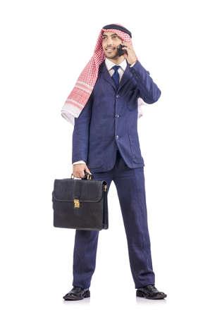 Arab businessman isolated on white Stock Photo - 19142648