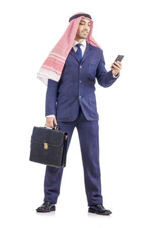 kameez: Arab businessman isolated on white