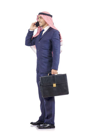 Arab businessman isolated on white Stock Photo - 19142553