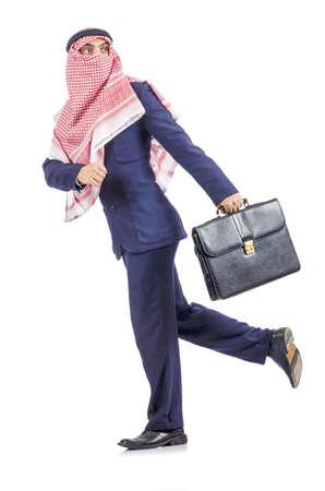 Arab businessman isolated on white Stock Photo - 19142719
