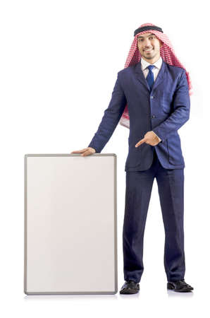 Arab man with blank board for message Stock Photo - 19142714