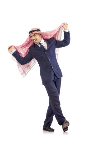 kameez: Arab man dancing from joy