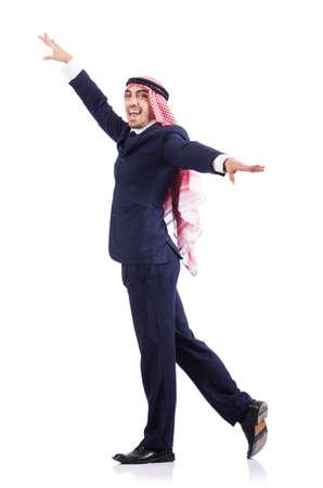 Arab businessman isolated on white Stock Photo - 19142438
