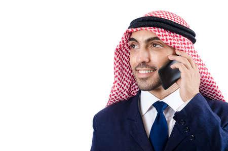 Arab businessman isolated on white Stock Photo - 19142746