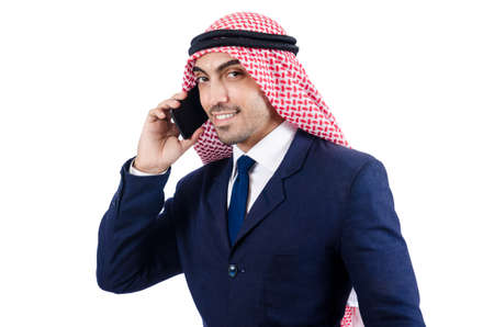 Arab businessman isolated on white Stock Photo - 19142760