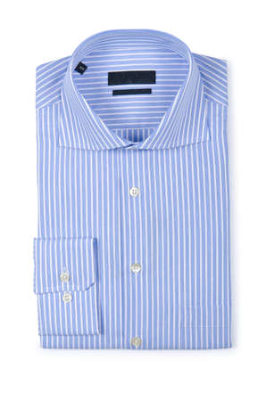 Nice male shirt isolated on the white Stock Photo - 19331254