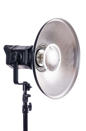 stripbox: Studio light stand isolated on the white