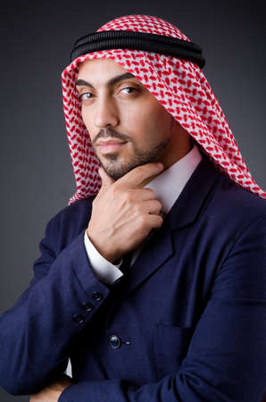 Arab businessman in dark studio Stock Photo - 19323753