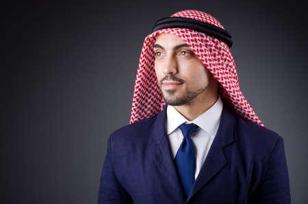 Arab businessman in dark studio Stock Photo - 19323754