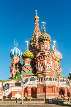 Famous st Vasily Blessed cathedral in Moscow Stock Photo - 19253792