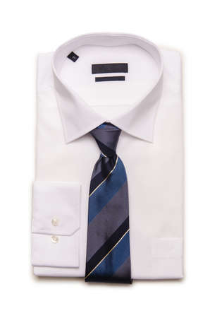 Nice male shirt isolated on the white Stock Photo - 19329270