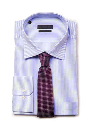 Nice male shirt isolated on the white Stock Photo - 19331144