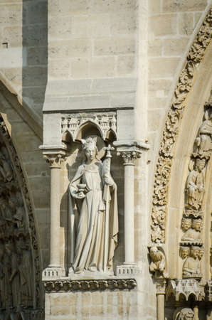 Elements of Notre dame cathedral photo