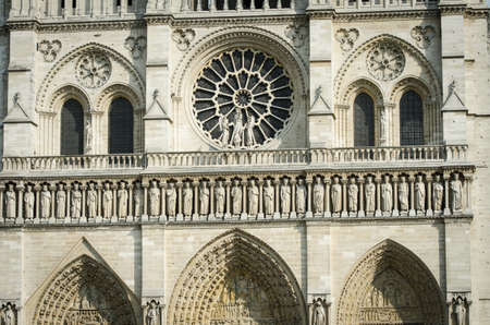Elements of Notre dame cathedral Stock Photo - 19253845